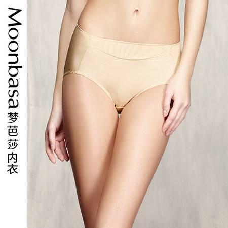 梦芭莎 弹力丝滑双拉包臀舒适无痕平角收腹塑身内裤 女