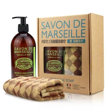 法国玛瑟皂工坊马赛橄榄液体皂(无香型)500ml