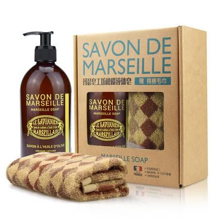 法国玛瑟皂工坊马赛橄榄液体皂(马鞭草)500ml