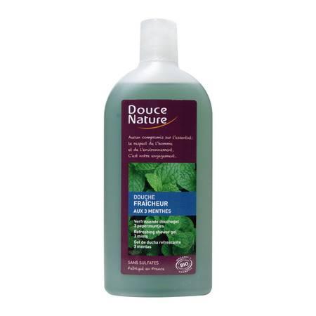 柔舒然Douce Nature 法国进口有机清新自然清爽滋润沐浴液(薄荷)300ml