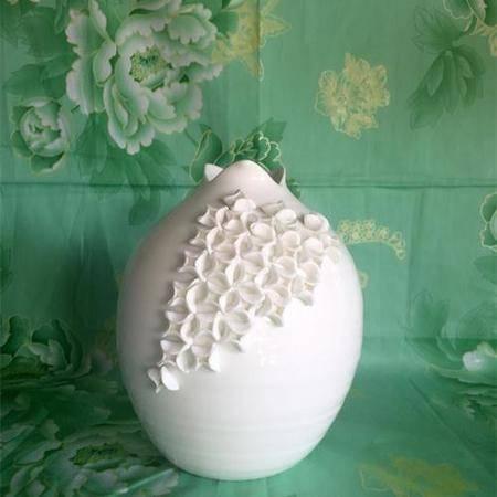 陶瓷花瓶手工拈花摆件