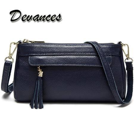 Devances 头层牛皮单肩包DV-8613(4色可选)