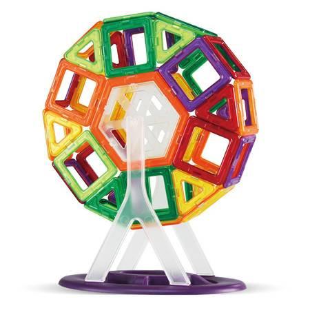 阿李罗磁力积木益智玩具 儿童益智拼插拼装玩具磁力积木 76片装