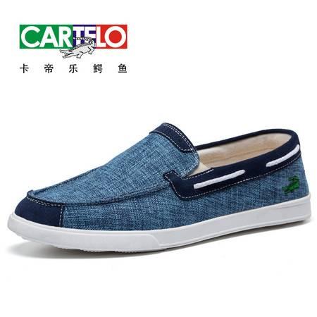 卡帝乐鳄鱼男鞋2016春夏季新款帆布鞋透气男士休闲布鞋脚套懒人蹬板鞋男