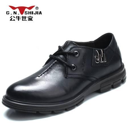 正品公牛世家皮鞋 男鞋 新款英伦商务休闲鞋 男士牛皮鞋