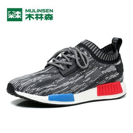 木林森2016男鞋夏季男士休闲透气耐磨运动鞋跑步鞋韩版鞋子潮流