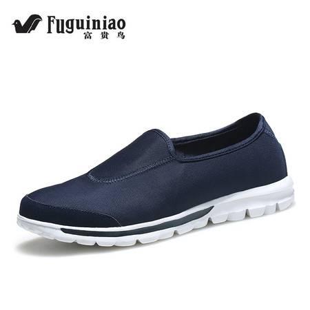 FGN/富贵鸟夏季新款透气网鞋超轻运动休闲网布鞋一脚蹬懒人鞋单鞋
