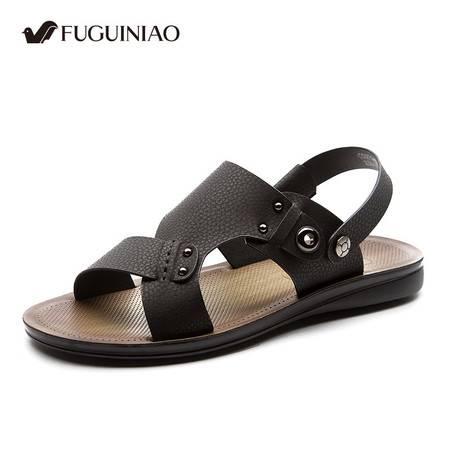 富贵鸟2016夏季新款 透气沙滩鞋男士休闲凉鞋 拖鞋旅游防滑沙滩鞋