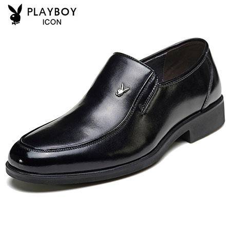 PLAYBOY花花公子 男士商务皮鞋英伦系带春季皮鞋