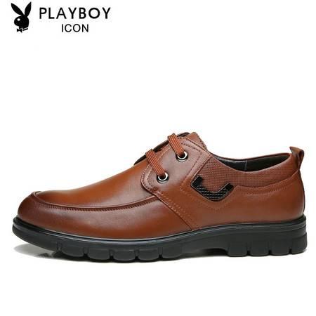 PLAYBOY花花公子商务皮鞋英伦系带春季男鞋1538802