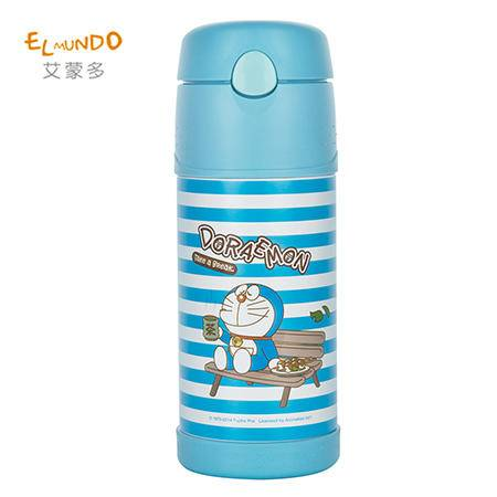 艾蒙多 叮当猫真空吸管保温杯 380ML GLST-401