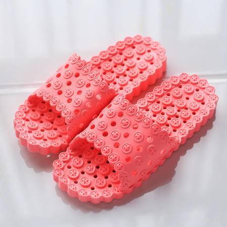 萱宜阁浴室拖鞋夏季居家洗澡漏水厚底防滑 扣子凉拖