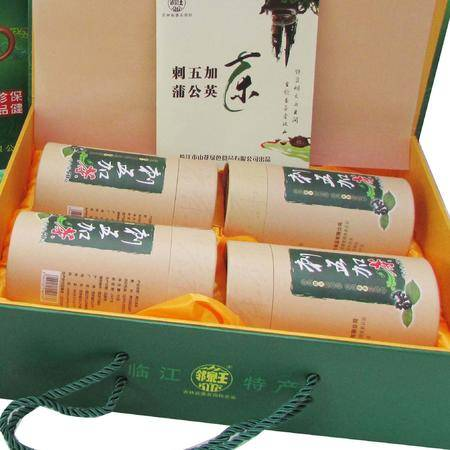 【邻泉王】长白山特产刺五加嫩叶茶50g*4桶礼盒装