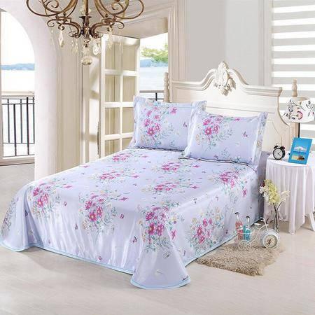 印花冰丝席床单款三件套可水洗空调夏凉席床套1.5/1.8m