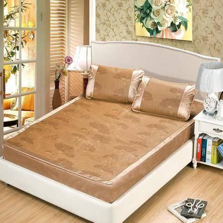 凉席高档藤席冰凉席夏三件套1.8m床折叠加厚席子双人床笠款1.5米