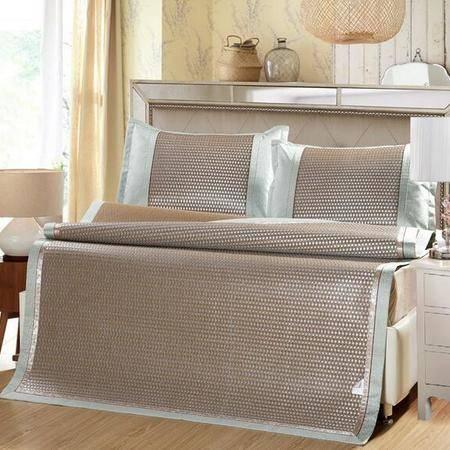 夏季高档藤席子1.8m床上用品 冰丝凉席三件套加厚1.5米折叠席