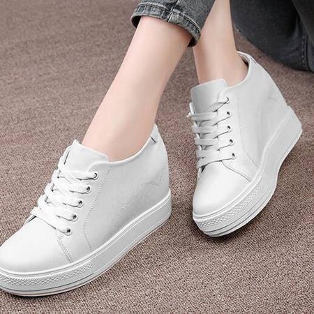 2016春秋新款韩版小白鞋内增高女鞋夏天休闲鞋厚底高跟女单鞋