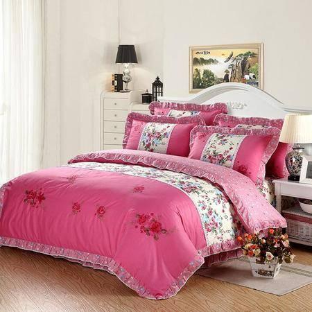 印加绣家纺四件套床上用品婚庆韩版纯棉全棉