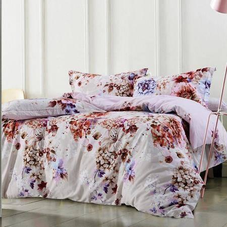 秋冬全棉活性生态磨毛四件套 纯棉床上用品家纺