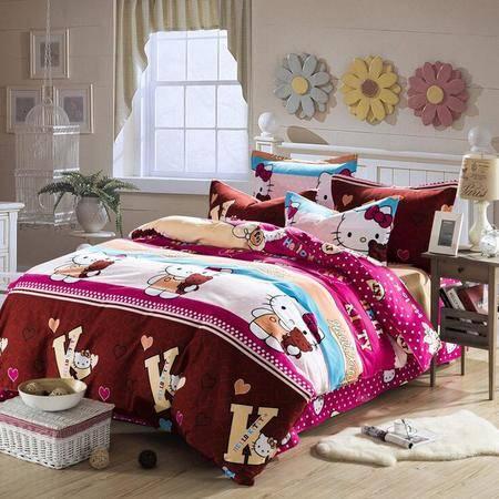 超细纯棉磨毛四件套 加厚高密度全棉床上用品