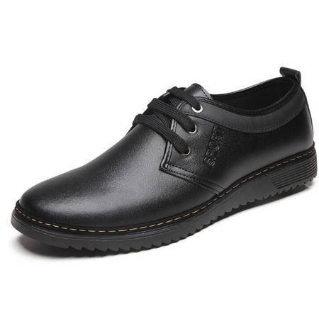 皮鞋软底流行男士休闲男鞋2016春季新款鞋子真皮系带男皮鞋
