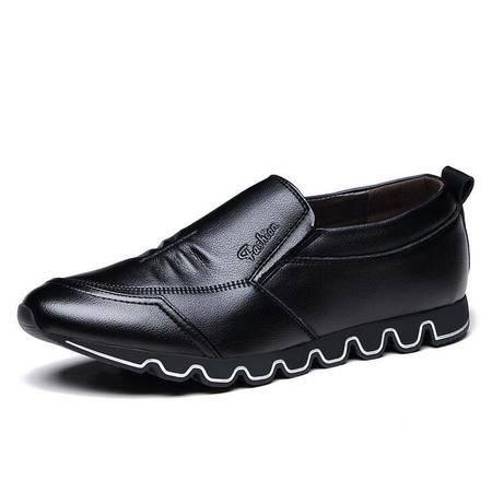 男士商务休闲鞋套男鞋透气英伦潮流单鞋子