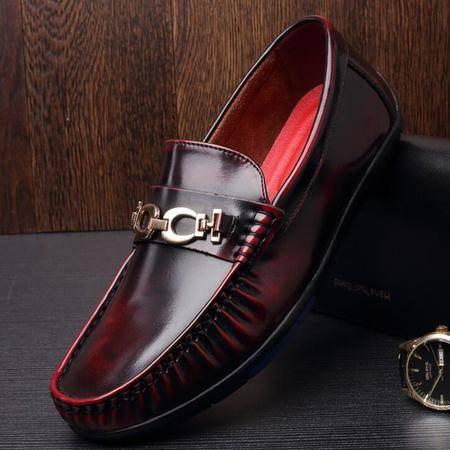 2016春新款 驾车鞋圆头豆豆鞋休闲皮鞋子品牌男鞋