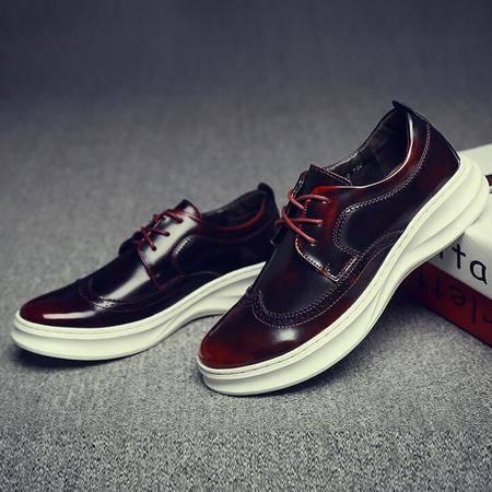 夏季 新品牌英伦布洛克花雕休闲皮鞋男潮流男鞋百搭透气板鞋
