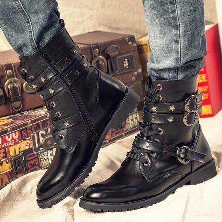 冬季男士短靴真皮军靴潮流时尚英伦马丁靴