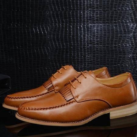 秋季男士皮鞋2016品牌男鞋商务韩版休闲透气潮流英伦风春季男鞋子
