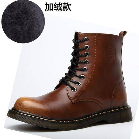 韩版男靴潮流品牌亮片高帮鞋 英伦风时尚男皮靴