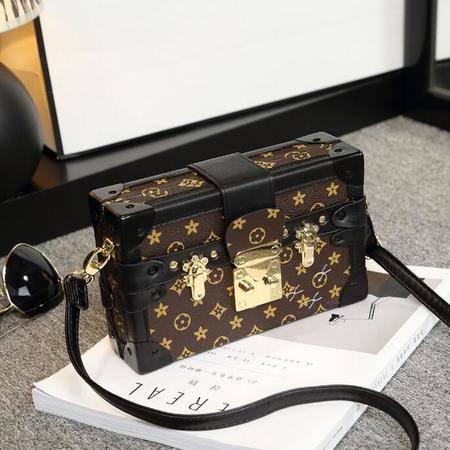 欢乐颂曲筱绡明星同款包包女小方包盒子包经典印花大牌小包包潮包