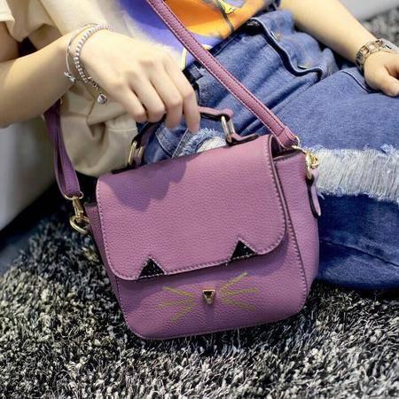 2016春夏新款小包包 韩版时尚休闲女士单肩包 小猫小挎包女包