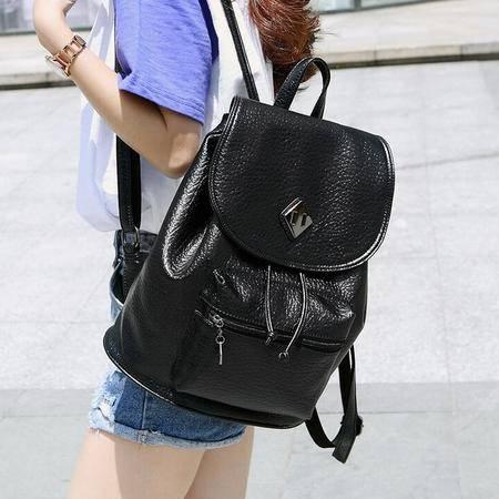 抽绳双肩包女 2016韩版时尚大学生校园休闲旅行背包街头百搭女包