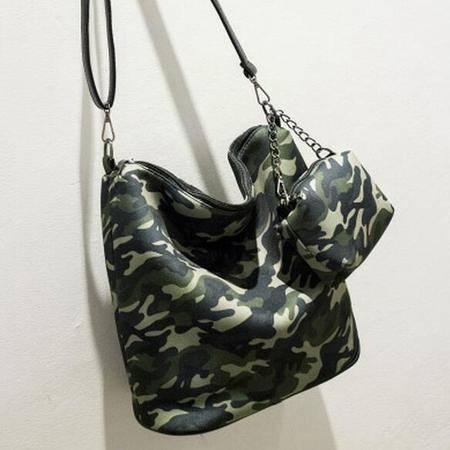 欧美时尚大包包 防水尼龙印花子母包单肩斜跨女包