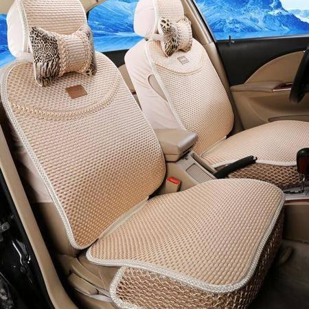 豹纹CAR全冰丝汽车坐垫 15新款夏垫座垫用品汽车座套