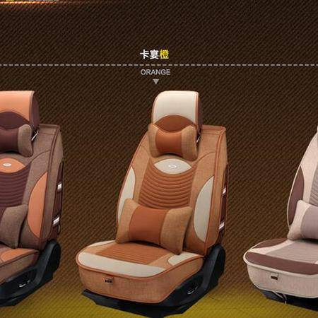 16四季BX1613亚麻3D高档汽车坐垫 新款座垫用品座套内饰用品