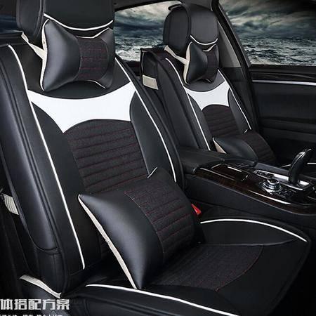 MJL四季Y-4皮亚麻汽车坐垫 高档新款精品座垫座套车内饰用品