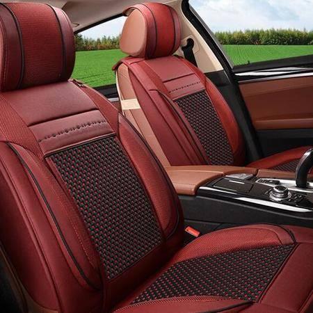 CAR1602四季两用皮冰丝汽车坐垫 新款座套座垫子内饰用品饰品