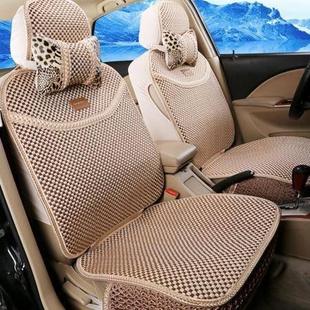 豹纹CAR全冰丝汽车坐垫 16新款夏垫座垫用品汽车座套