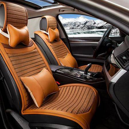 四季MS-2805皮冰丝汽车坐垫座垫座套 新款环保品牌四季垫车垫