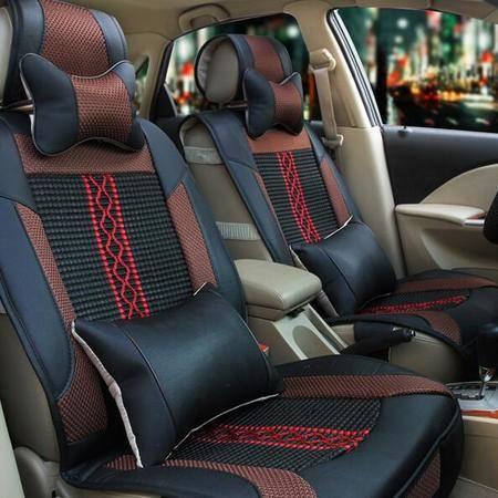 BX欧式高档仿真皮冰丝汽车坐垫 四季通用新座垫汽车用品饰品