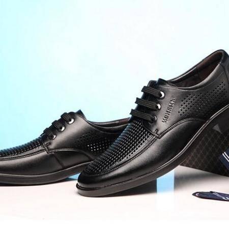 男鞋夏季男士商务正装镂空皮鞋真皮透气凉鞋英伦系带潮鞋子