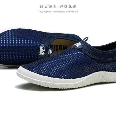 新品夏季男鞋透气网鞋男网面鞋夏天网眼网状休闲鞋超软鞋子