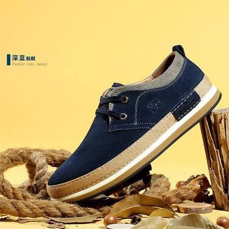 男鞋夏季男士休闲鞋板鞋男韩版真皮鞋学生透气低帮鞋潮鞋子