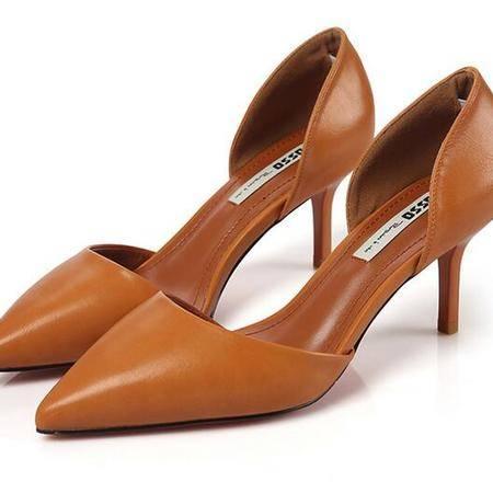 2016年秋季新款橡胶底时尚高跟女鞋