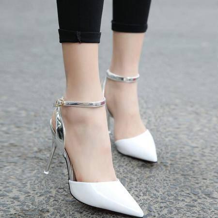 2016款贵族千金最新夏季超高跟防滑耐磨尖头橡胶女式凉鞋