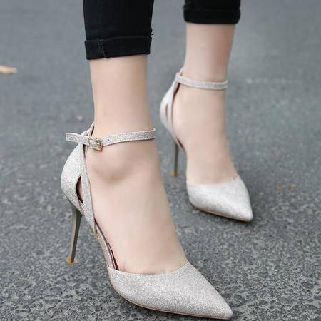 2016夏季新款超高跟尖头耐磨防滑舒适橡胶女式凉鞋