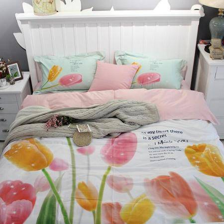 长绒棉四件套全棉活性床上用品纯棉贡缎3D专版数码印花四件套