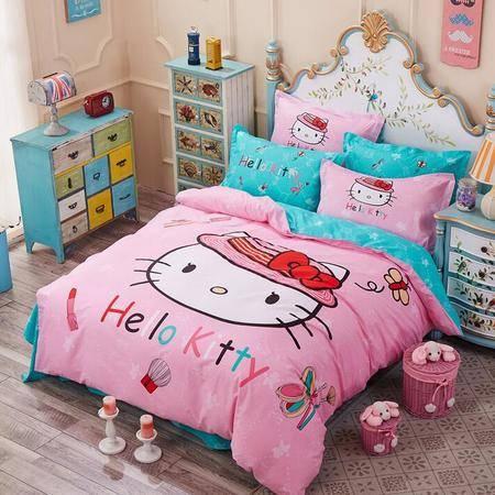 萌系列全棉四件套 床上用品大版活性印花全棉套件